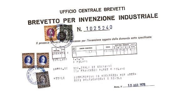 Uma das primeiras patentes industriais da IGV