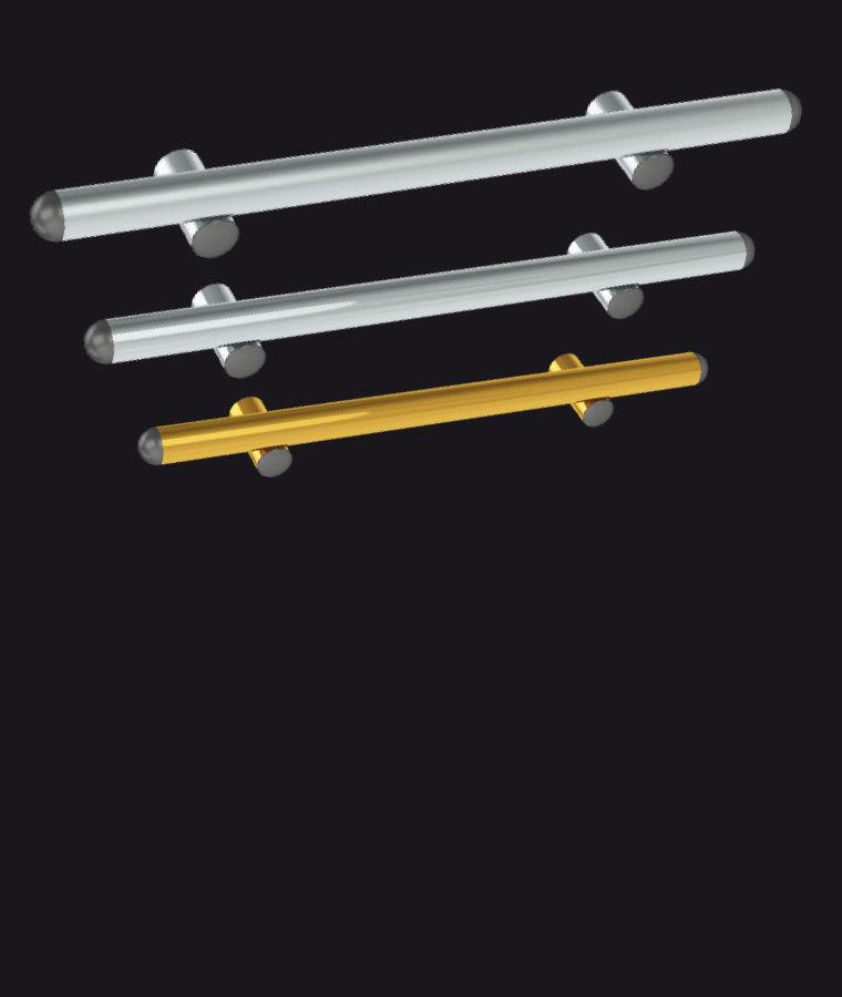 Disponibile in acciaio inox satinato, lucido e oro